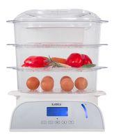 KeMar Kitchenware KFS-950 Dampfgarer | 6 Programme |Reisschale | Touch Display | 9 Liter | 3 Dämpfkörbe