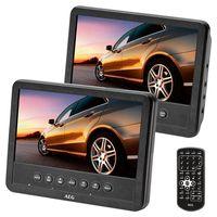 AEG DVD 4555 Car Cinema Set 7 Zoll portabler Auto-DVD-Player 2 Monitore