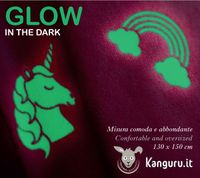 Kanguru Kuscheldecke mit schönen Snoopy oder süßen Einhörner