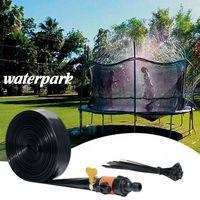 Miixia 12M Kinderspiel Trampolin Wassersprinkler Outdoor Garten Spaß Sprühschlauch Set Trampoline Sprinkler