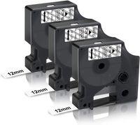 3x UniPlus Kompatibel Schriftband Ersatz für Dymo D1 45010 S0720500 12mm Schwarz auf Transparent für Dymo LabelManager 160 210D 360D 280 420P Labelpoint 250 Labelwriter 450 Duo Turbo Dymo COLORPOP