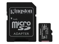 KINGSTON Canvas Select Micro SD Karte 128GB mit Adapter