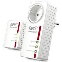Avm FRITZ!Powerline 546E / 510E WLAN Set /  (500 MBit/s WLAN-Access Point Fast-Ethernet-LAN intelligente Steckdose) - Plug-Type C (EU)