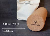 Ergotopia® Faszienrolle aus ökologisch-nachhaltigem Kork für gesundes Faszientraining und geschmeidiges Bindegewebe, auch als Fitnessrolle & Massagerolle geeignet