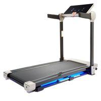 ZELUS Laufband Heimtrainer Fitnessgerät mit LED Display Bluetooth Lautsprecher Lichtstimmung 120x40cm Lauffläche 12 km/h klappbar