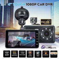 1080P Touchscreen Auto DVR Kamera Recorder Dual Lens vorne und hinten HD Dash Cam