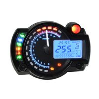 Universal einstellbare Farbe Hintergrundbeleuchtung LCD Digital Motorrad Tachometer Kilometerzaehler Motor Bike Tachometer