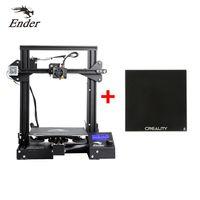Creality 3D Ender-3 DIY 3D Drucker + 235*235mm Hartglas-Bauplatte