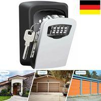 Topchances Schlüsseltresor mit 4-stelligem Zahlencode Safe Speicher Verschluss Kasten