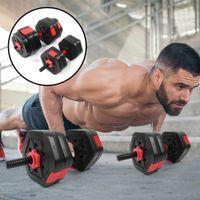 2 in 1 Hex Hantelset 25kg Hantel Kurzhantel Training Fitnessgeräte Set + 25 cm Verbindungsstang