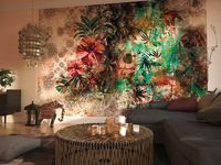 "Komar Fototapete ""Sherazade"", Blumen, Blüten, bunt, Collage, 368 x 254 cm"