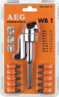 Milwaukee Winkelschraubvorsatz WB-1 1 / 4 Zoll Antrieb / 1 / 4 Zoll I-Sechskant / Eckmaß 30mm / mit 10 - 4932430173