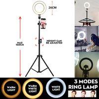 LED Ring Lampe Dimmbar & Lichtständer Kit Telefon Foto Selfie Video Makeup Live