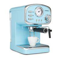 Klarstein Espressionata Gusto Espressomaschine, 1100 Watt, 15 Bar Druck, Volumen Wassertank: 1 Liter, abnehmbares Tropfgitter aus Edelstahl, spülmaschinenfeste Tropfschale, EasyBrewing Technology, bewegliche Aufschäum- und Heißwasserdüse, pastellblau