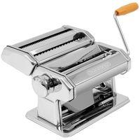 Monzana Nudelmaschine Manuell 2 Teigwalzen Spaghetti Bandnudeln Lasagne Edelstahl 9 versch. Teigdicken Küche Paste Maker