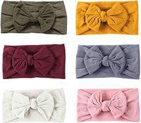 6 Stück Baby Stirnband Mädchen Newborn Baby Kopfband Mädchen Haarband Elastische Nylon Stirnband