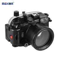 MEIKON wasserdichte Kamera Tauchen Gehaeuse Case Schutzhuelle Unterwasser 40m / 130ft fuer Canon G7x Mark II