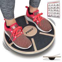 Balance Board Wackelbrett Holz I propriozeptives Training Physiotherapie Kreisel
