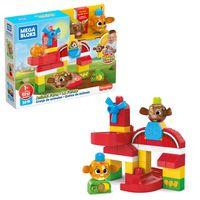Mega Bloks Guck-Guck Tierfarm (31 Teile), Kleinkinder-Spielzeug, Bauset, Bausteine