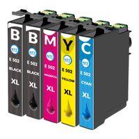 5 XXL kompatible Druckerpatronen / Tintenpatronen als Ersatz für Epson Expression Home 502XL 502 XL Epson Workforce WF-2860 DWF WF-2865 DWF Expression Home XP-5100 XP-5105 WF2860 DWF WF2865 DWF Expression Home XP5100 XP5105