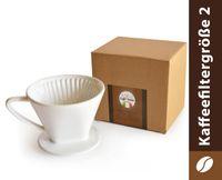 Caffé Italia Permanent-Kaffee-Filter Aufsatz Keramik - Größe 2