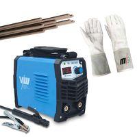 SET: Elektroden Schweißgerät ARC 200K 200A | Schweißhandschuhe | Stabelektroden von Vector Welding