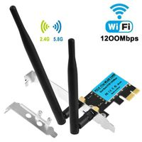 1200Mbit/s PCI-E Wireless WLAN Netzwerkkarte Adapter 2,4/5G Dualband für Desktop