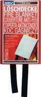GEV Löschdecke FLD 4825 (115x115cm), entwickelt zum Löschen von Küchen-, Grill- & Personenbränden