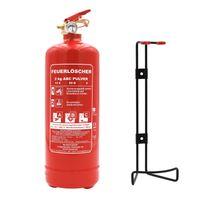 generalüberholter orig. ANDRIS® 2kg ABC Marken-Feuerlöscher Pulver für Auto/LKW, mit KFZ-Drahthalter EN3 inkl. ANDRIS® Prüfnachweis mit Jahresmarke