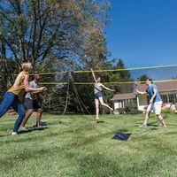 wendaby Volleyballnetz Mit St/änder Draussen Tragbares Badminton-Netzset Einstellbar Faltbares Badminton Tennis Volleyball Netz Set F/ür Beach Grass Park Outdoor-Veranstaltungsorte