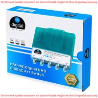 HB-DIGITAL PRO UHD DiSEqC Schalter 4/1 Switch