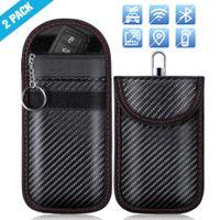 2x Autoschlüssel Keyless Go Schutz Autoschlüssel Tasche Hülle RFID Funkschlüssel Abschirmung Schlüsseletui Schlüsselmäppchen
