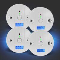 4x Kohlenmonoxid-Detektor mit 85dB Alarm, DIN EN er CO-Melder Eaxus
