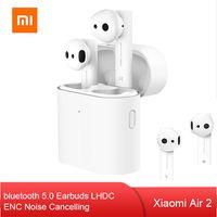 Original Xiaomi Air 2 Kopfhörer TWS Wireless bluetooth 5,0 Ohrhörer LHDC Stereo ENC Noise Cancelling Kopfhörer + Ladebox Weiß