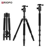 TRIOPO M2508 Aluminiumlegierung Kamerastativ Einbeinstativ mit D-2A 360 ¡ã Panoramakugelkopf 4-teilig ausziehbar max. Hoehe 164cm Kompatibel mit Canon Nikon Sony DSLR ILDC Kameras max. Tragfaehigkeit 10kg
