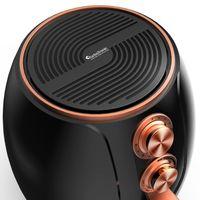 Heißluftfritteuse 3 L, Timer, 1200W, Öl-und Fettfrei, Air Fryer, Retro-Design