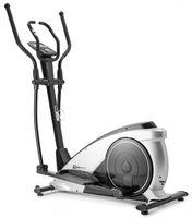 Hop-Sport HS-060C Ellipsentrainer Ergometer - Crosstrainer für Zuhause mit App-Steuerung, HRC-Funktion, 32 Widerstandsstufen - Elliptical Trainer max. Benutzergewicht 150 kg silber