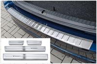 Ladekantenschutz und Einstiegsleisten für Skoda Octavia 4 Kombi ab Bj. 2020-, Farbe:Silber