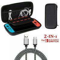 2 in 1 Zubehör Set , EVA Tragetasche, 2M Type C Ladekabel Für Nintendo Switch
