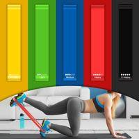PRECORN Fitnessband 5er Set Fitnessbänder Trainingsbänder Gymnastikband Trainingsband Pilates Yoga