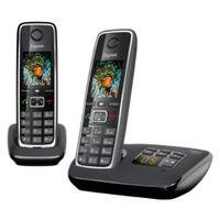 Gigaset C530A DUO Strahlungsarmes Schnurlostelefon mit Anrufbeantworter, Farbdisplay, Rufnummernanzeige, Freisprechfunktion, Babyfon-Funktion, DECT