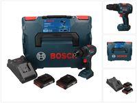 Bosch GSB 18V-55 Professional Akku Bohrschrauber 18 V 55 Nm Brushless + 2x Akku 2,0 Ah + Ladegerät + L-Boxx ( 06019H5370 )
