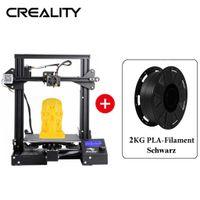 Creality 3D Ender-3 pro 3D Drucker DIY Kit, Druckgröße 220x220x250mm + 2KG Schwarz PLA-Filament