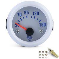 Öltemperatur Anzeige Zusatz Instrument Universal 52mm Silber beleuchtet