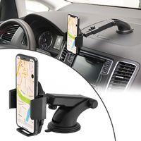 Auto Handyhalterung, MidGard Auto Halter mit Gel-Saugnapf, ideal für Armaturenbrett oder Windschutzscheibe, einstellbarer Teleskoparm, 360° drehbar für Smartphones