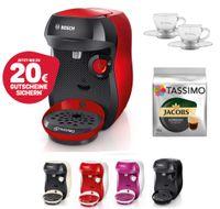 Bosch TASSIMO Happy + 20 EUR Gutscheine* + TDisc + WMF Espresso Gläser Set , Farbe:Schwarz
