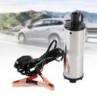 12V Elektrische Ölpumpe Tauchpumpe Wasser Kraftstoffpumpe Dieselpumpe 60W Edelstahl 30L/min Absaugpumpe