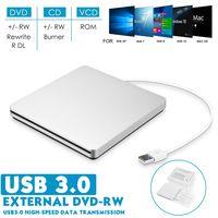 DIGOO Externes DVD Laufwerk Portable DVD Brenner USB 3.0 Externe Rewriter Writer Reader DVD/CD Plug&Play für Laptop Desktop mit Mac/OS/XP/Win7/Win8/Win10