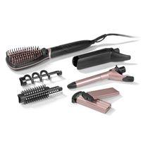 Glättbürste Glätteisen elektrisch Haarbürste Lockenstab Haar Glätter 50W Volumen