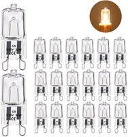 Kimjo Halogenlampen G9 33W 480LM 230V Halogenlampe Dimmbar Warmweiß 2700K, G9-Sockel, 360°Lichtstromwinkel (20 pack)